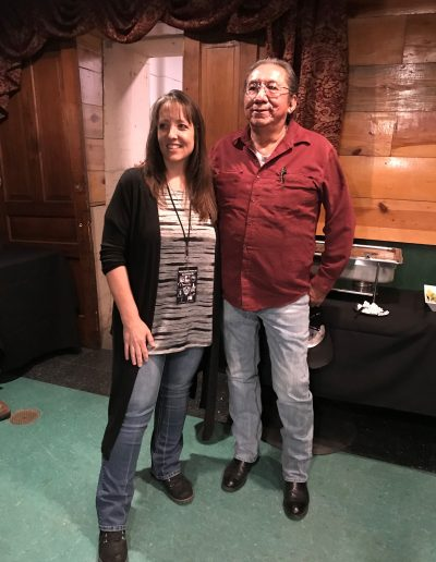 Dani Jo Butler and Ernie LaPoint, the great grandson of Chief Sitting Bull.